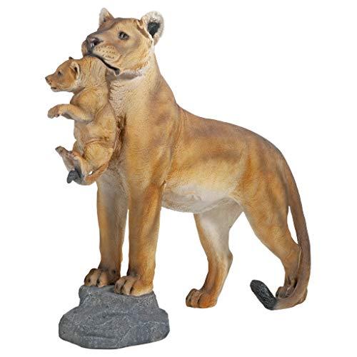 Design Toscano Lioness with Cub Statue