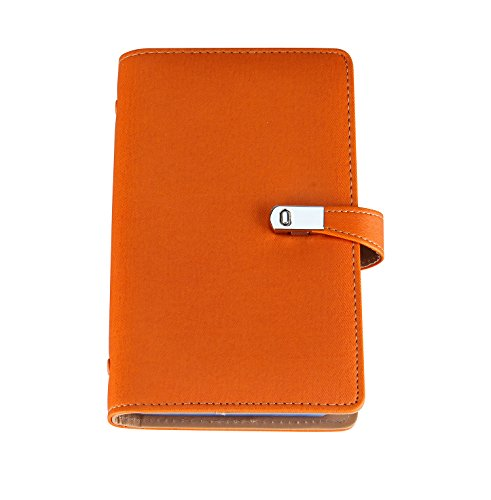 Name Card Book Holder Business Card Organizer for 240 Cards ( orange) (Receipt Organizer Book)