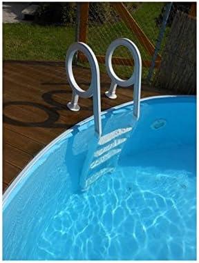 Escalera piscina plástico para piscinas de hasta 1,20 1,32 m Profundidad: Amazon.es: Hogar