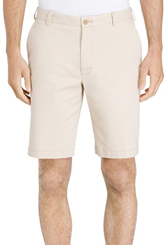 IZOD Men's Saltwater Stretch Chino Short, Pale Khaki, 40 (Shorts Stretch Khaki)