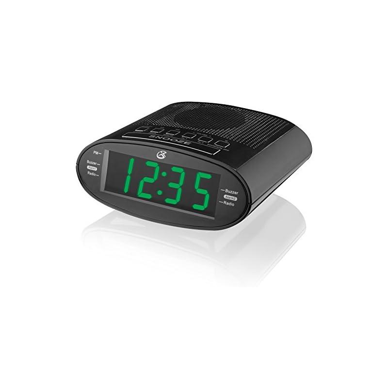 GPX C303B Dual Alarm Clock AM/FM Radio w