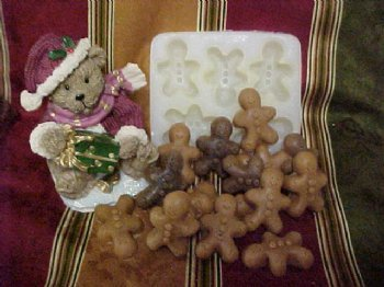 Mini Gingerbread Men Embeds 5 Cavity Silicone Mold 191 Food-Soap-Candle-Resin-Flexible Silicone Mold Van Yulay