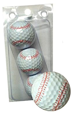 GBM Golf Sport Novelty 3 Ball Sleeve, Baseball