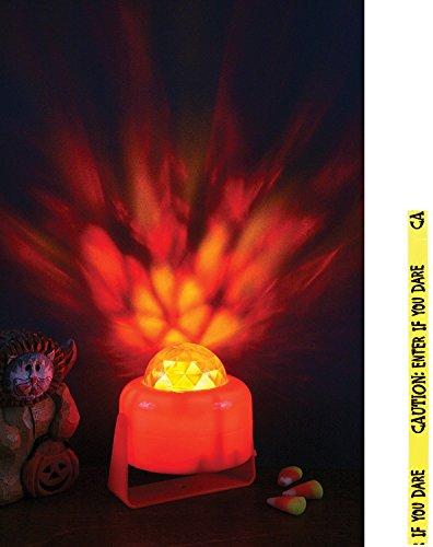 Potomac Banks Bundle: 2 Items - Flaming Pumpkin Light and Free Caution Tape Chosen at Random]()