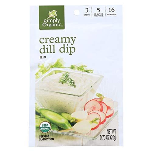 Herb Dip - Simply Organic, Dip Mix Creamy Dill Organic, 0.7 Ounce