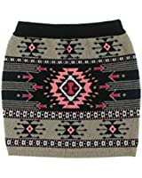Aqua Womens Cashmere Pattern Pencil Skirt