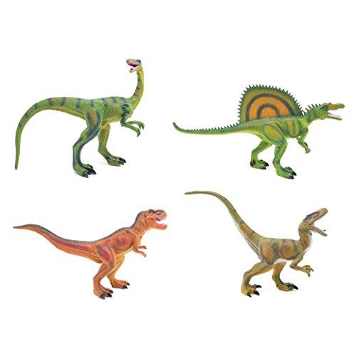 BOLEY (4-Pack) Authentic Dinosaur Set - Dinosaur Toy Playset Great as Kids Dinosaurs, Dinosaur Party Favors, and Dinosaur Party (Walmart Dinosaur Toys)