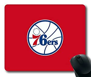 Philadelphia 76ers Logo on Red Rectangle Mouse Pad by eeMuse