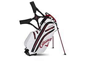 Callaway 2015 Aqua Dry Golf Stand Bag, White/Red/Black