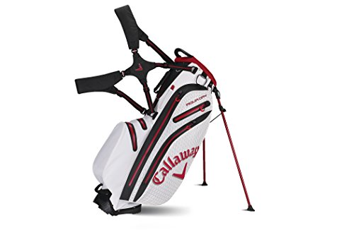 Callaway Aqua Dry Golf Stand Bag, White/Red/Black
