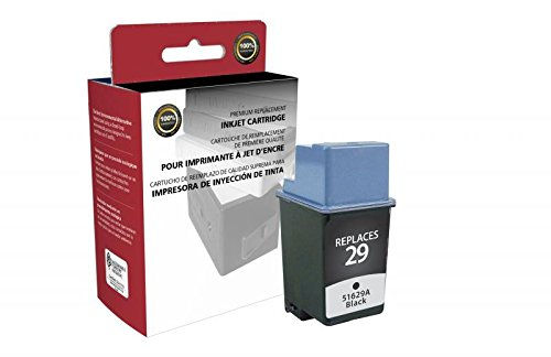 Inksters of America Remanufactured Black Ink Cartridge for HP 51629A HP 29