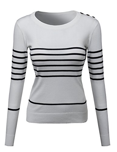 Womens Top Contemporary Casual Viscose Nylon Textured Long Sleeves Sweater