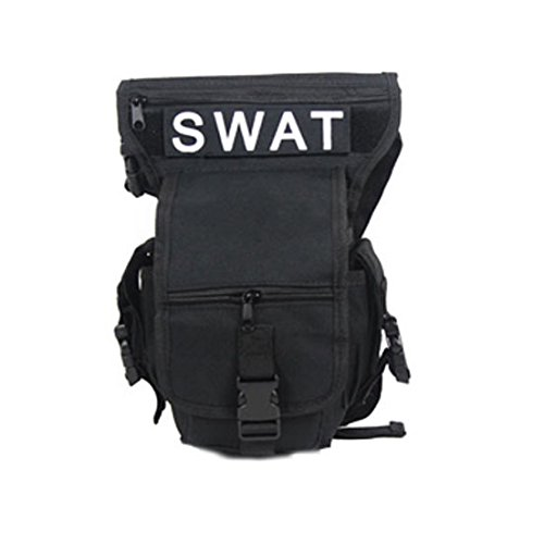 Männer Jungen Mehrzweck Militär Training CS SWAT Wanderung Jagd Taille Trägergürteltasche Schwarz