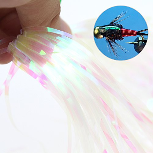 Fly Tying Material Clear Plastic Rainbow Film Flies Wing Shirmp Skin For Nymph(Clear (Fly Tying Wing)