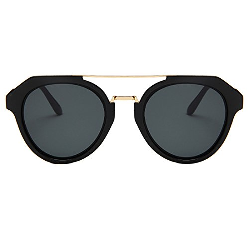 HUAYI Women's/Men's UV400 Retro Trend Double Beam Sunglasses (Beam Trend)