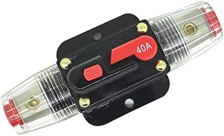 60A RKURCK 12V-24V DC 60 Amp Circuit Breaker Fuse Holder Inline Fuse Block For Car Audio Solar Inverter System Protection
