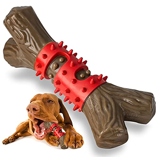 Tough Dog Toys Aggressive Chew Toys for Large Dogs, RANTOJOY Durable Dog Chew Toys for Medium Large Breed, Nylon Rubber…