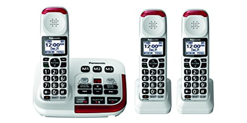Panasonic KX-TGM420W Amplified Cordless Phone (3 Handsets) (Best Amplified Phone For Hard Of Hearing)