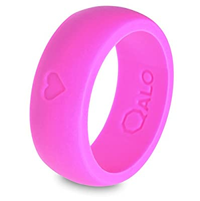 "QALO Men's Silicone Wedding Ring - Pink, Purple (From QALO ""Love Collection"")"