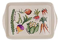 "Ulster Weavers 8KHV02 8.3"" x 1"" x 5.5"" Kelly Hall Design Fresh Vegetables Scatter Tray"