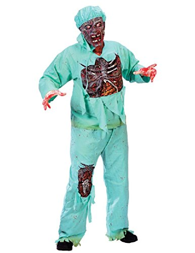 FunWorld Men's  Zombie Doctor, Light Green, One Size -