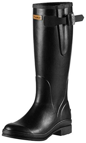 Ariat Mudbuster Femme Wellington/bottes d'équitation-noir