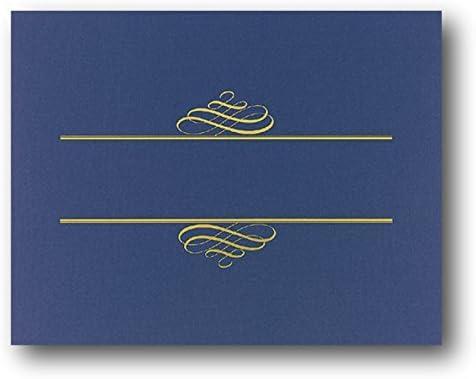 B0131BCUG6 Navy Blue Value Crest Certificate Cover - 25 Covers 412B2T32BUp3L