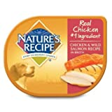 Cheap Nature's Recipe Chicken & Wild Salmon in Broth Adult Dog Food Tray, Case of 24