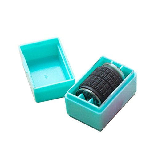 DDLBiz New Design Guard ID Roller Stamp Self Inking Stamp Messy Code Security Office Necessary Accessory (Blue)