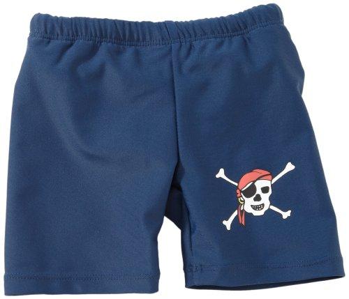 Playshoes Baby - Jungen Schwimmbekleidung 460084 Shorty / Badehose Pirat von Playshoes mit UV-Schutz nach Standard 801 und Oeko-Tex Standard 100, Gr. 74/80, Blau (791 blau/grün)
