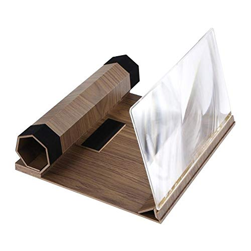 Glass Magnify - 12 Inch Phone Bracket Screen Magnifier Stereoscopic Amplifying Desktop Wood Mobile Video Radiation - Cover Notebook Loupe Lens Rear Stand Acer Replacement 4930 Aspire Glass H27