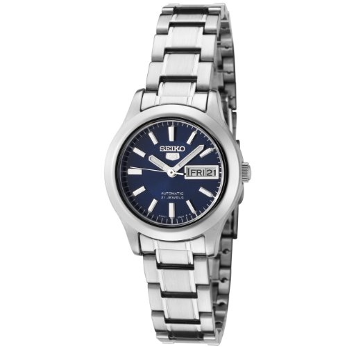 Seiko Women's SYMD93K1 Seiko 5 Automatic Blue Dial Stainless Steel Watch (Ladies Watch Leather Automatic)