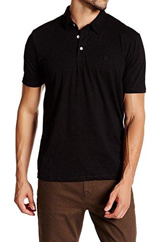 (Volcom Mens Large Short Sleeve Polo Rugby Shirt Black L)