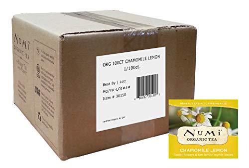Numi Organic Tea Chamomile Lemon, 100 Count Box of Tea Bags, Herbal Teasan (Packaging May Vary)