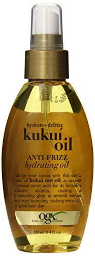 OGX Anti-Frizz Hydrating Kukui Oil, Hydrate Plus Defrizz, 4 Ounce