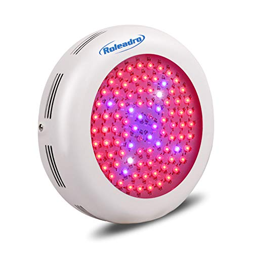 $69.99 Roleadro UFO Led Grow Light 600w Led Plant Grow Light Bulb, Indoor Patio Plant Grow Lamp with Red Blue Full Spectrum, Garden Plant Grow Light Fixture for Hydroponics, Germination, Veg, flower, 2019