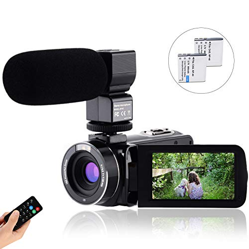 CofunKool Video Camera Camcorder 1080P 30FPS Full HD YouTube Vlogging Camera 36MP 3.0 inch IPS...