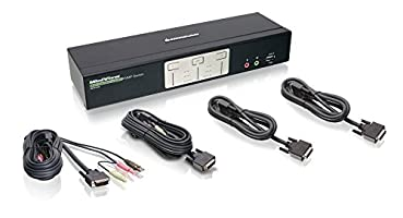 IOGEAR 2-Port Dual View Dual Link DVI KVMP Switch with Audio,GCS1642