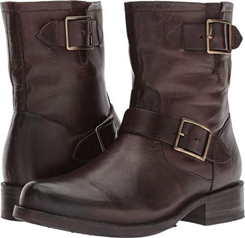 FRYE Women's Vicky Engineer Chocolate 6 B US