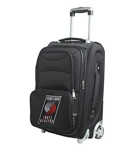 Denco NBA Portland Trail Blazers In-Line Skate Wheel Carry-On Luggage 21-Inch Black [並行輸入品]   B07JZWPP3W