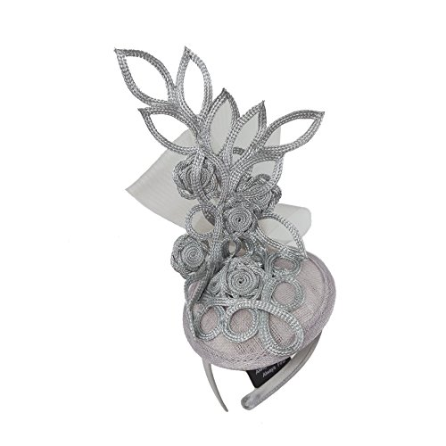 Embroidery Butterfly Ribbon Curl Exotic Sinamay Fascinator Headband Hats Derby Racing Hat