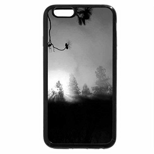 iPhone 6S Case, iPhone 6 Case (Black & White) - Misty Morning Sunrise