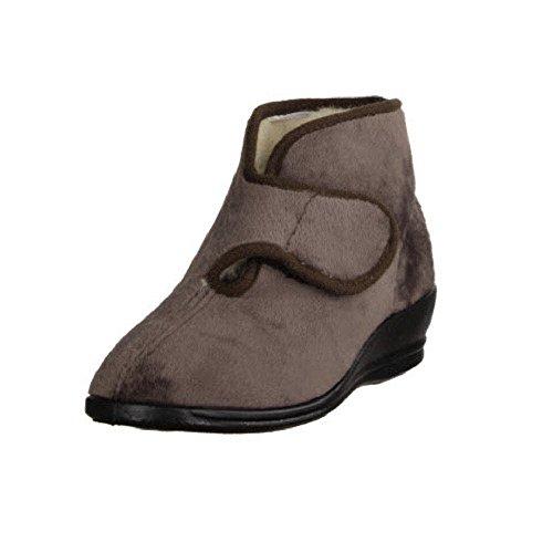 Beige Aperto Indietro Florett Klettstiefel Pantofole Donne XEwX6txq8