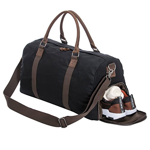 52b72e0a5d Gym Bag Duffle Bag Weekend Bag with Shoes Compartment