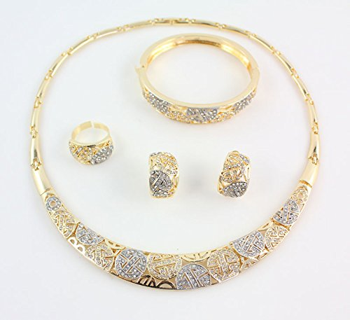 a2242112671 Amazon.com: African Costume Jewelry Sets for Women 18k Gold Plated ...