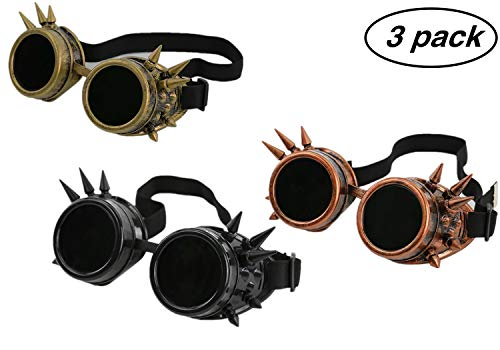 NewYork Offer Shop Halloween Steampunk Goggles Retro Welding Goth Cosplay Goggles Halloween Accessories