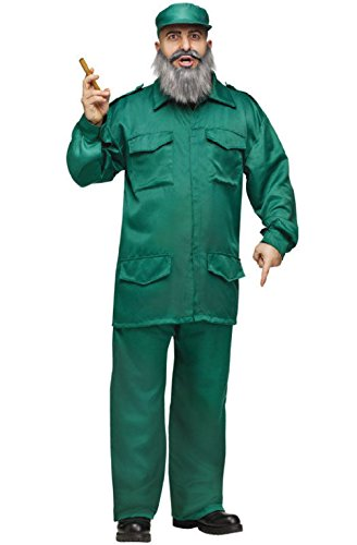 Adult Halloween Fidel Costumes (Fidel Castro Army Cuban Communist Adult Halloween)
