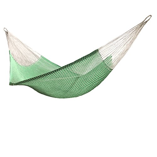 Handmade rope nylon HAMMOCKS wather-resistant made in Venezuelan Green and silver