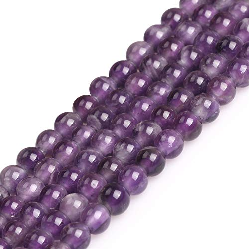 - JOE FOREMAN 6mm Purple Amethyst Gemstone Round Beads for Jewelry Making 15