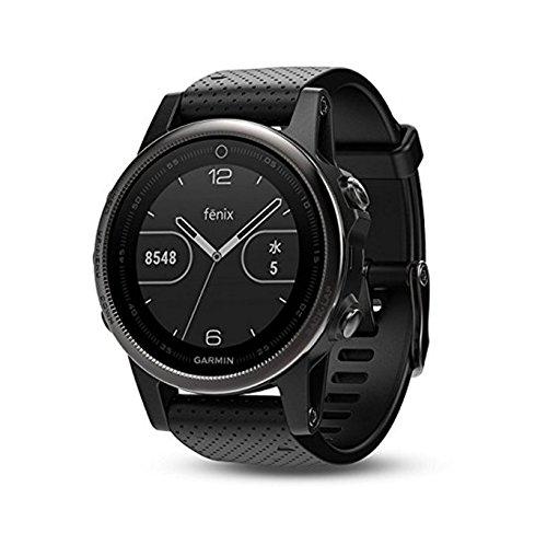 Garmin Fēnix 5S - Montre GPS Multisports Outdoor - Argent avec Bracelet Noir Argent avec Bracelet Noir